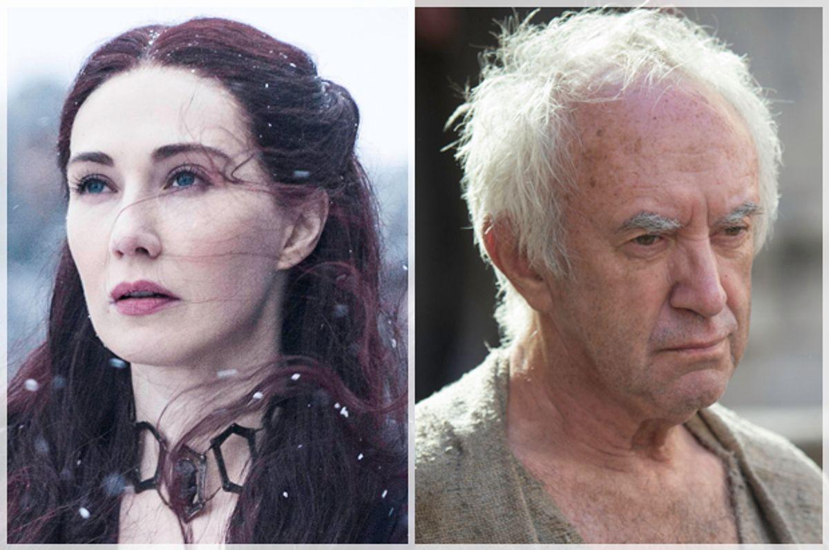 "Carice van Houten; Jonathan Pryce in ""Game of Thrones""         (HBO)"