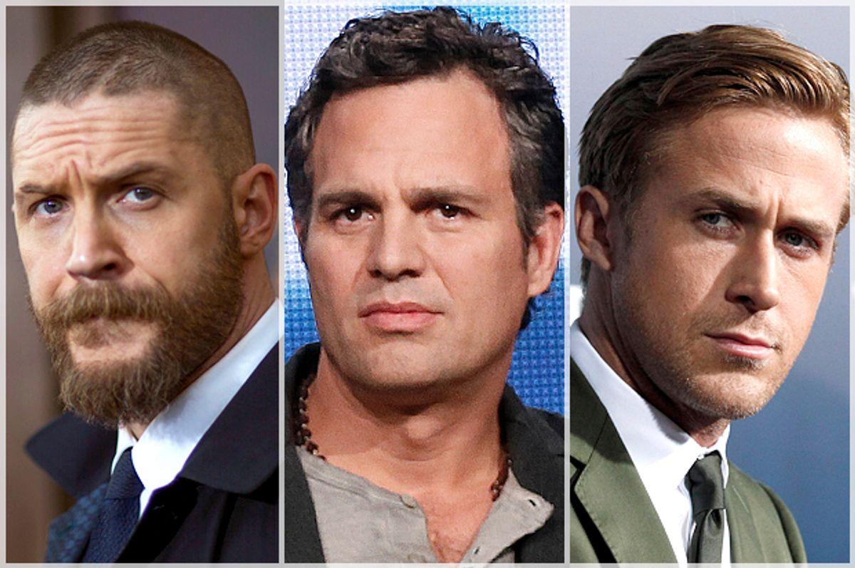 Tom Hardy, Mark Ruffalo, Ryan Gosling     (Reuters/Mario Anzuoni/Lucy Nicholson)