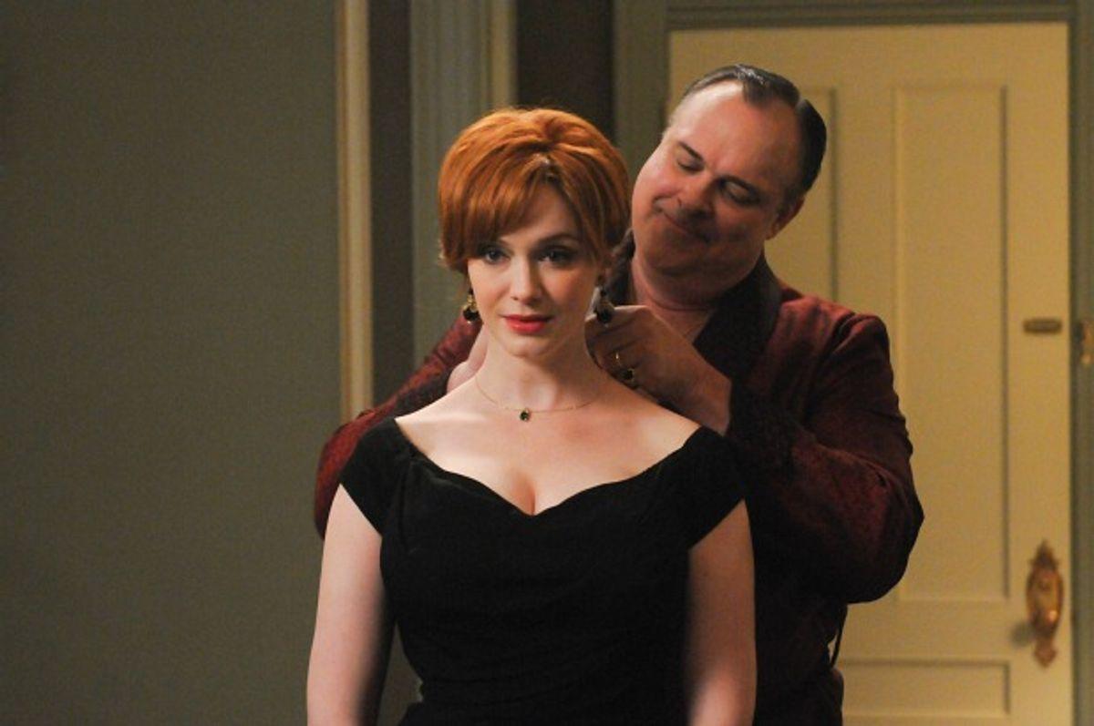 "Joan Harris (Christina Hendricks) and Herb Rennet (Gary Basaraba) in ""Mad Men,"" season 5, episode 11      (Michael Yarish/AMC)"