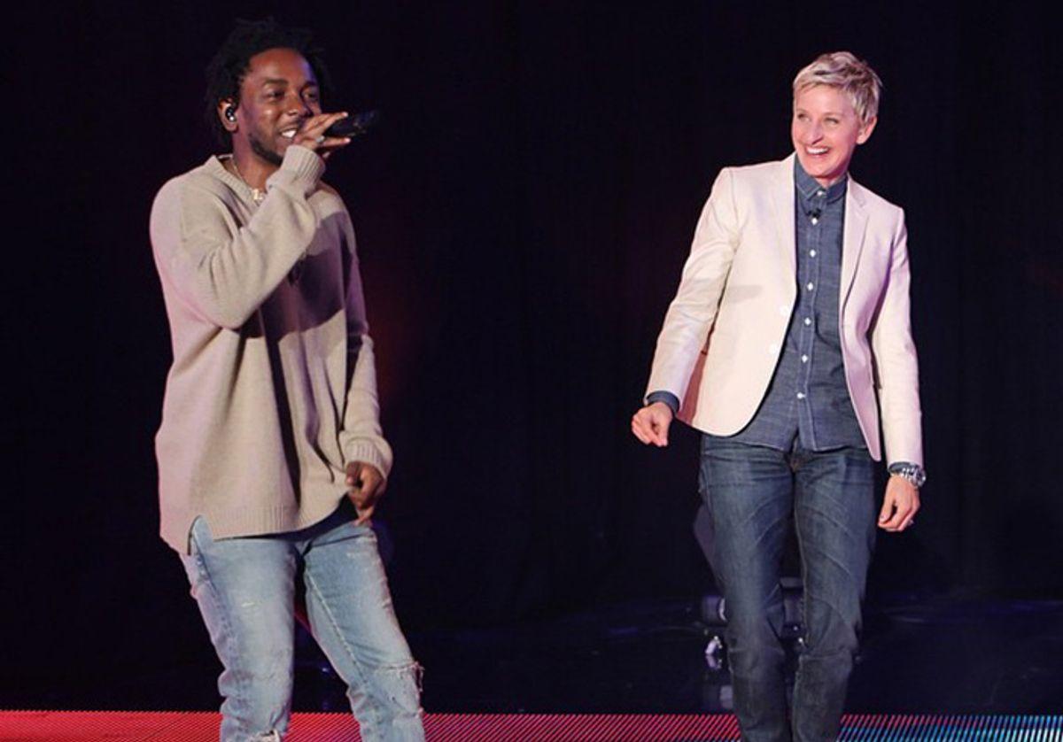 Kendrick Lamar and Ellen DeGeneres  (NBC)
