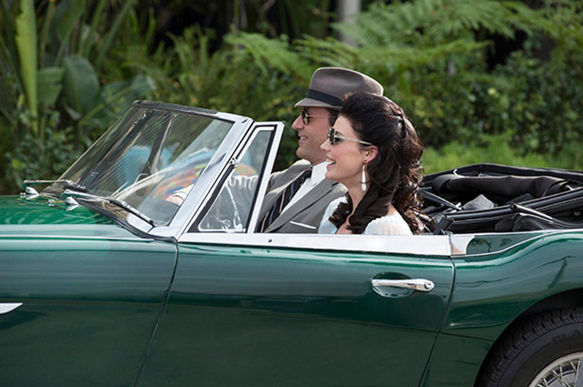 "Jon Hamm and Jessica Pare in ""Mad Men""           (AMC/Michael Yarish)"