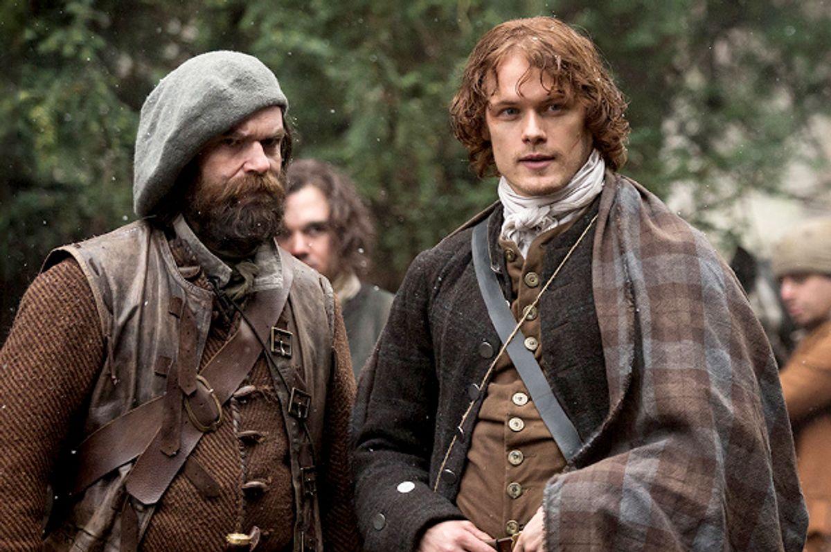 "Duncan Lacroix and Sam Heughan in ""Outlander""       (Starz/Ed Miller)"