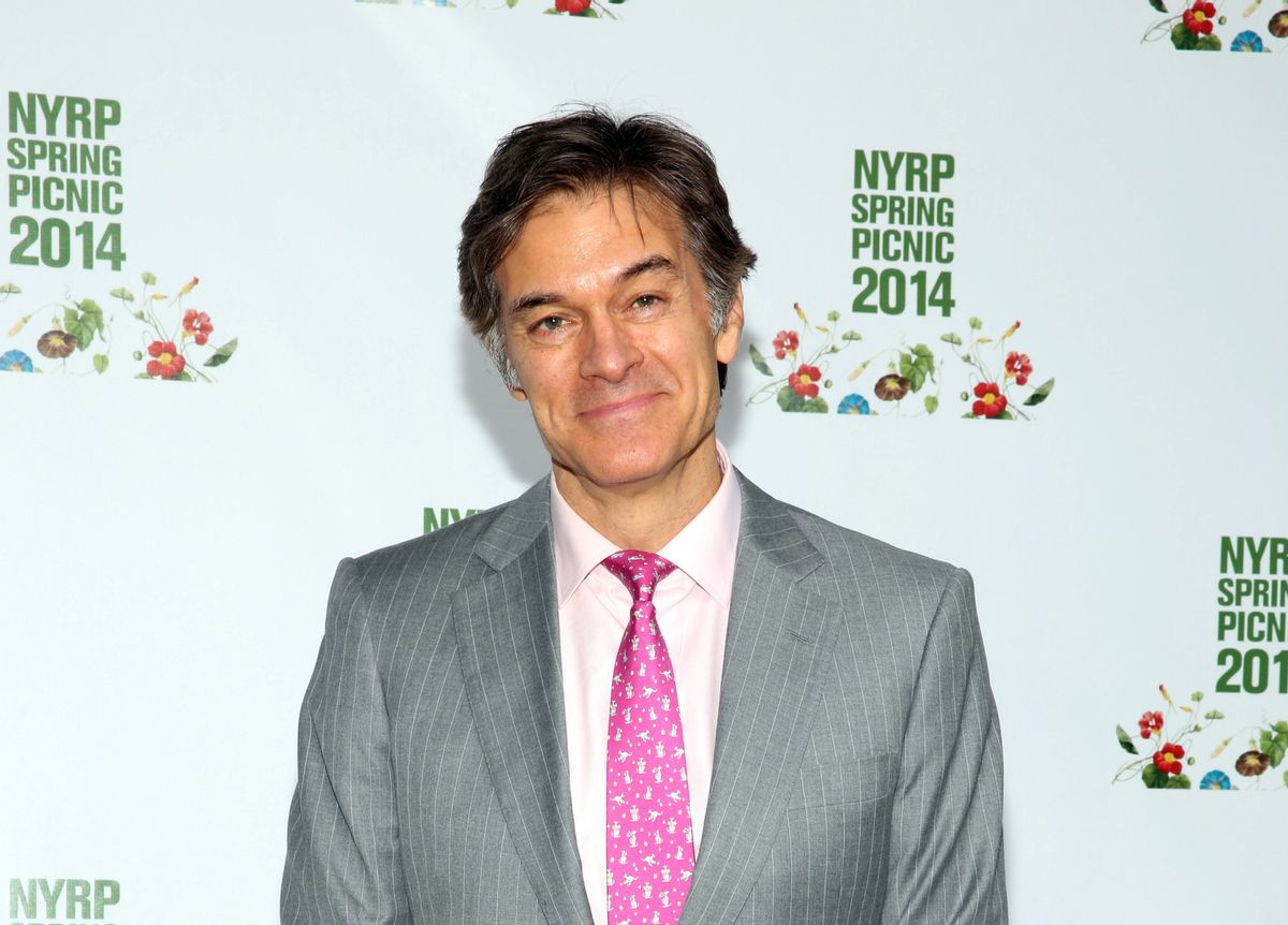 FILE - In this May 29, 2014 file photo, Dr. Mehmet Oz attends the New York Restoration Project's 13th Annual Spring Picnic at Riverside Park in New York.  (Wendy Ploger/invision/ap)