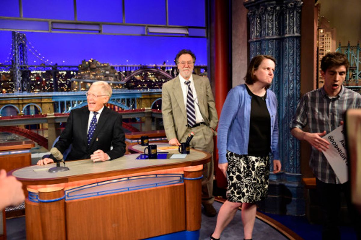 David Letterman hosts his final broadcast of the Late Show with David Letterman  (John Paul Filo/CBS)