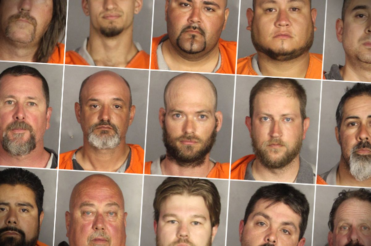 Booking photos of people arrested during the motorcycle gang related shooting at the Twin Peaks restaurant in Waco, Texas on May 17, 2015.      (AP/McLennan County Sheriff's Office)