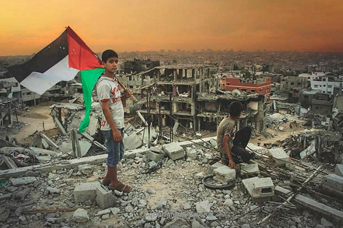 """Cover detail from the book """"The 51 Day War: Ruin and Resistance in Gaza""""        (Nation Books)"""