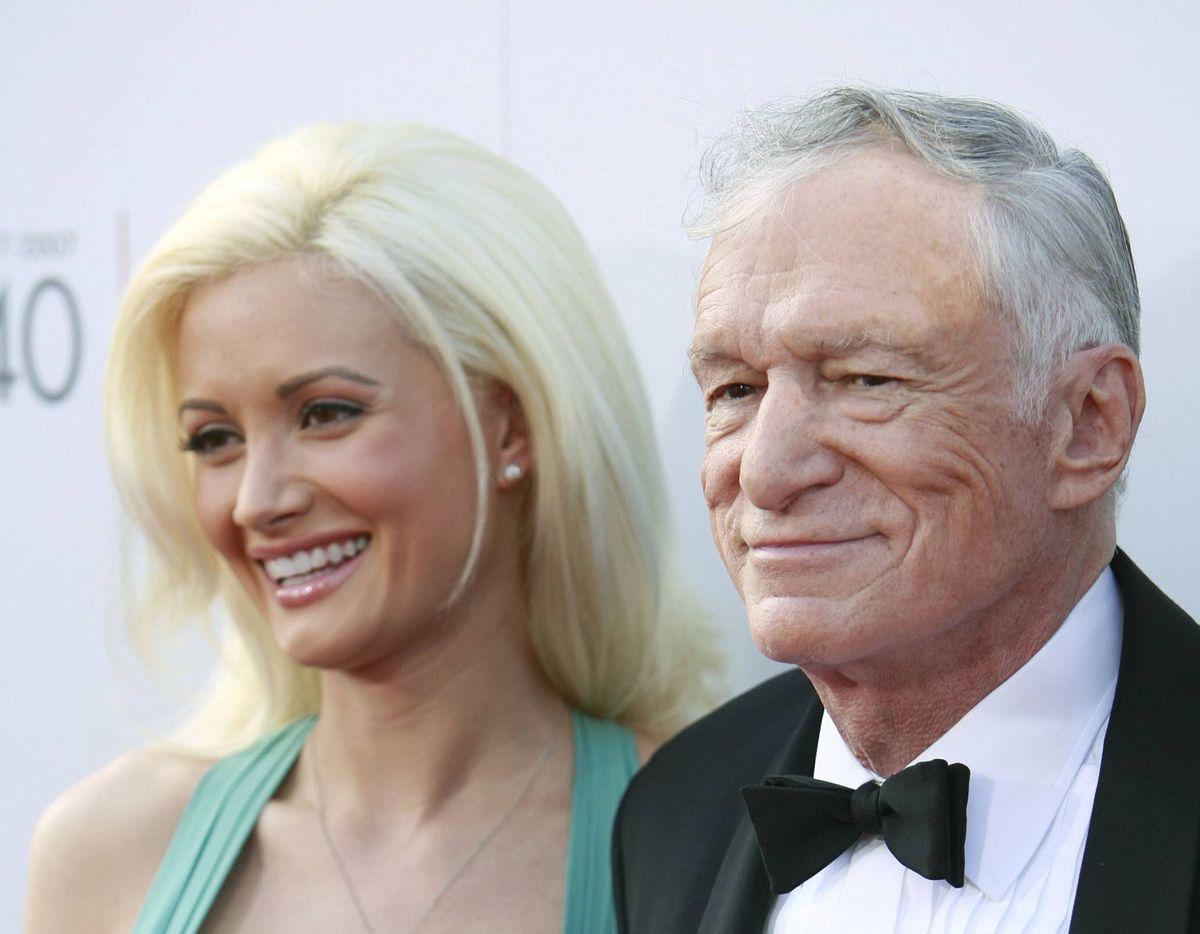 Holly Madison, left, and Hugh Hefner          (Associated Press/Matt Sayles)