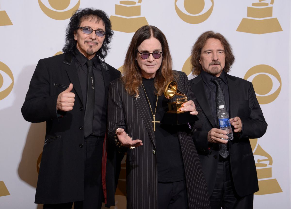 Tony Iommi, Ozzy Osbourne and Geezer Butler of Black Sabbath  (AP/Dan Steinberg)
