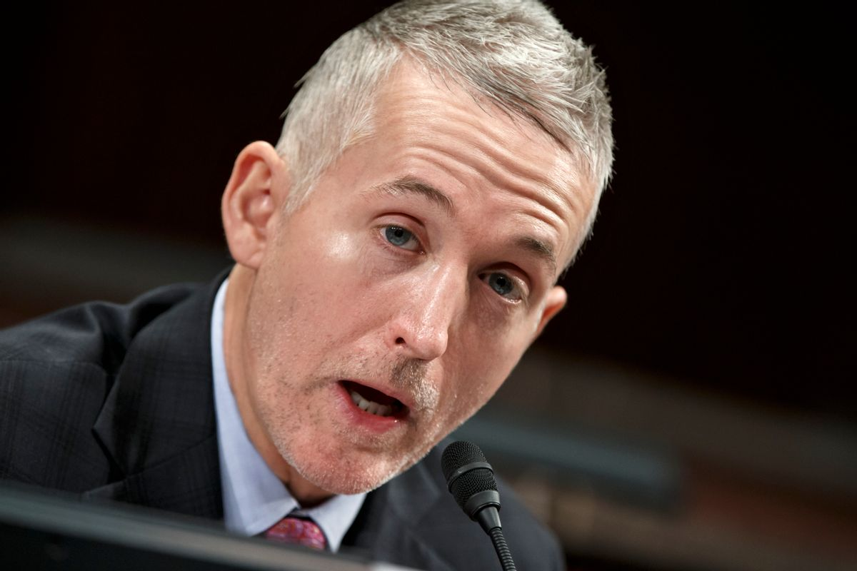 FILE - In this Jan. 27, 2015, file photo, House Select Committee on Benghazi Chairman Rep. Trey Gowdy, R-S.C., demands answers of witnesses  from the State Department and the CIA, as it holds its third public hearing to investigate the 2012 attacks on the U.S. consulate in Benghazi, Libya, where a violent mob killed four Americans, including Ambassador Christopher Stevens, on Capitol Hill in Washington. Sidney Blumenthal will testify in closed session June 16, 2015, about frequent emails he sent about Libya when Hillary Rodham Clinton served as secretary of state. Blumenthal worked in the White House under President Bill Clinton and is a longtime friend and adviser to the Clinton family.   (AP Photo/J. Scott Applewhite) (AP)