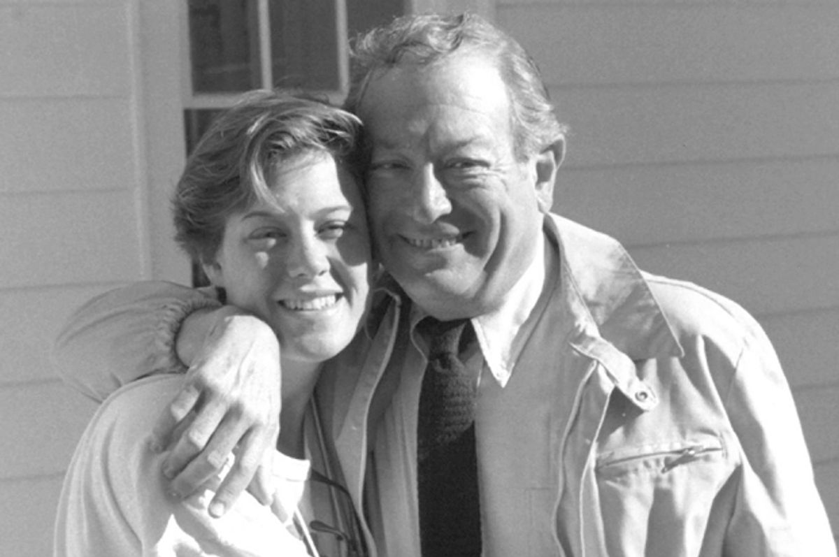 A photo of the author and her father