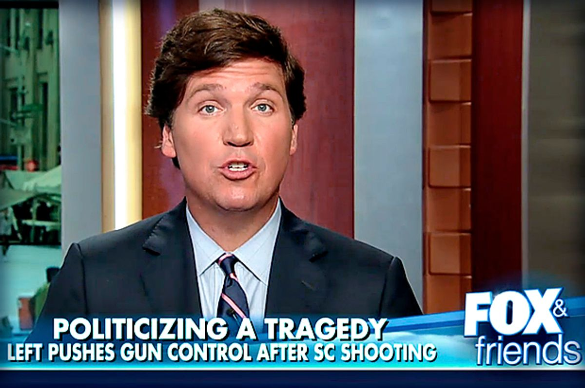 "Tucker Carlson on ""Fox & Friends""     (Fox News)"