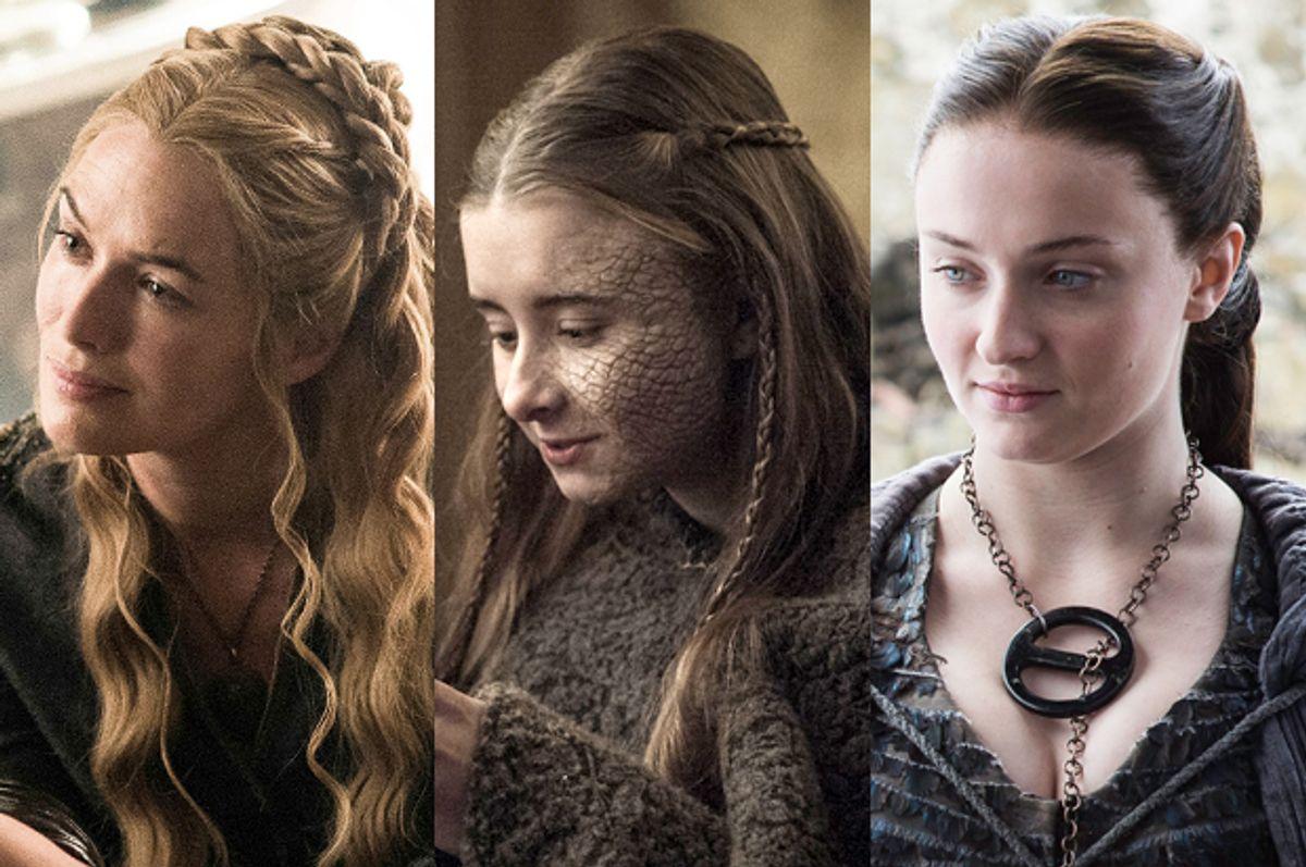 "Lena Headey as Cersei Lannister; Kerry Ingram as Shireen Baratheon; Sophie Turner as Sansa Stark in ""Game of Thrones""         (HBO)"