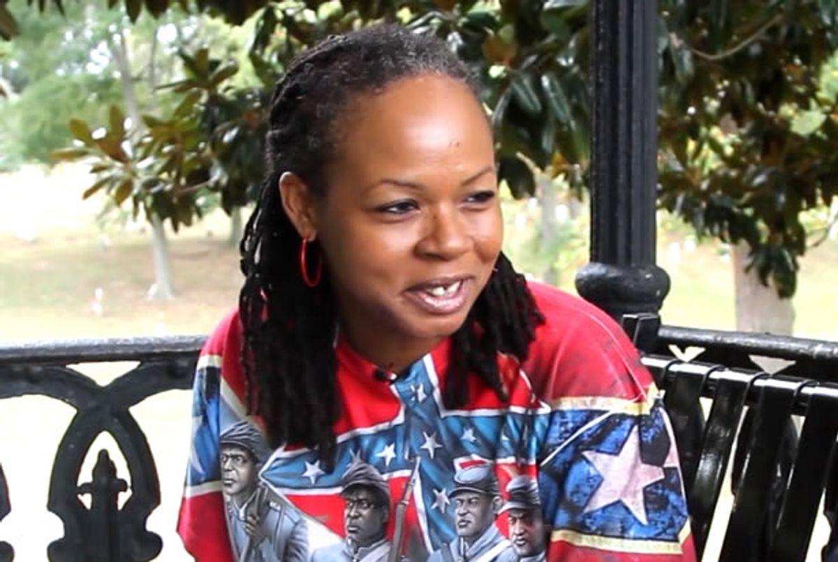 """Karen Cooper (""""<a href=""""https://vimeo.com/126991396"""" target=""""_blank"""">Battle Flag</a>"""")"""