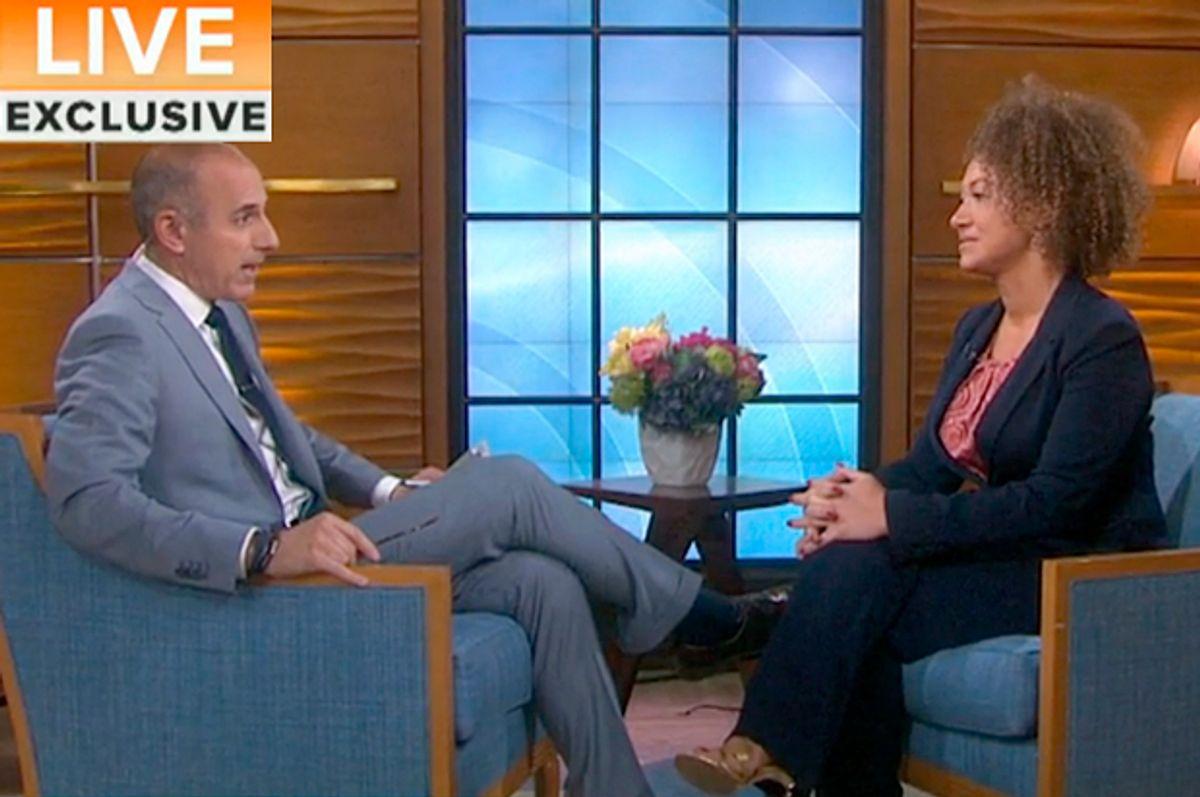 """Matt Lauer interviews Rachel Dolezal on """"Today,"""" June 16, 2015         (Today)"""