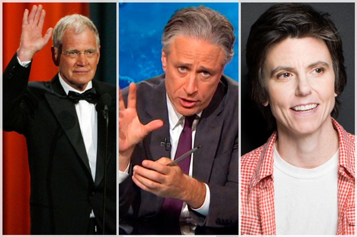 David Letterman, Jon Stewart, Tig Notaro      (Reuters/Jessica Rinaldi/Comedy Central/AP/Victoria Will)