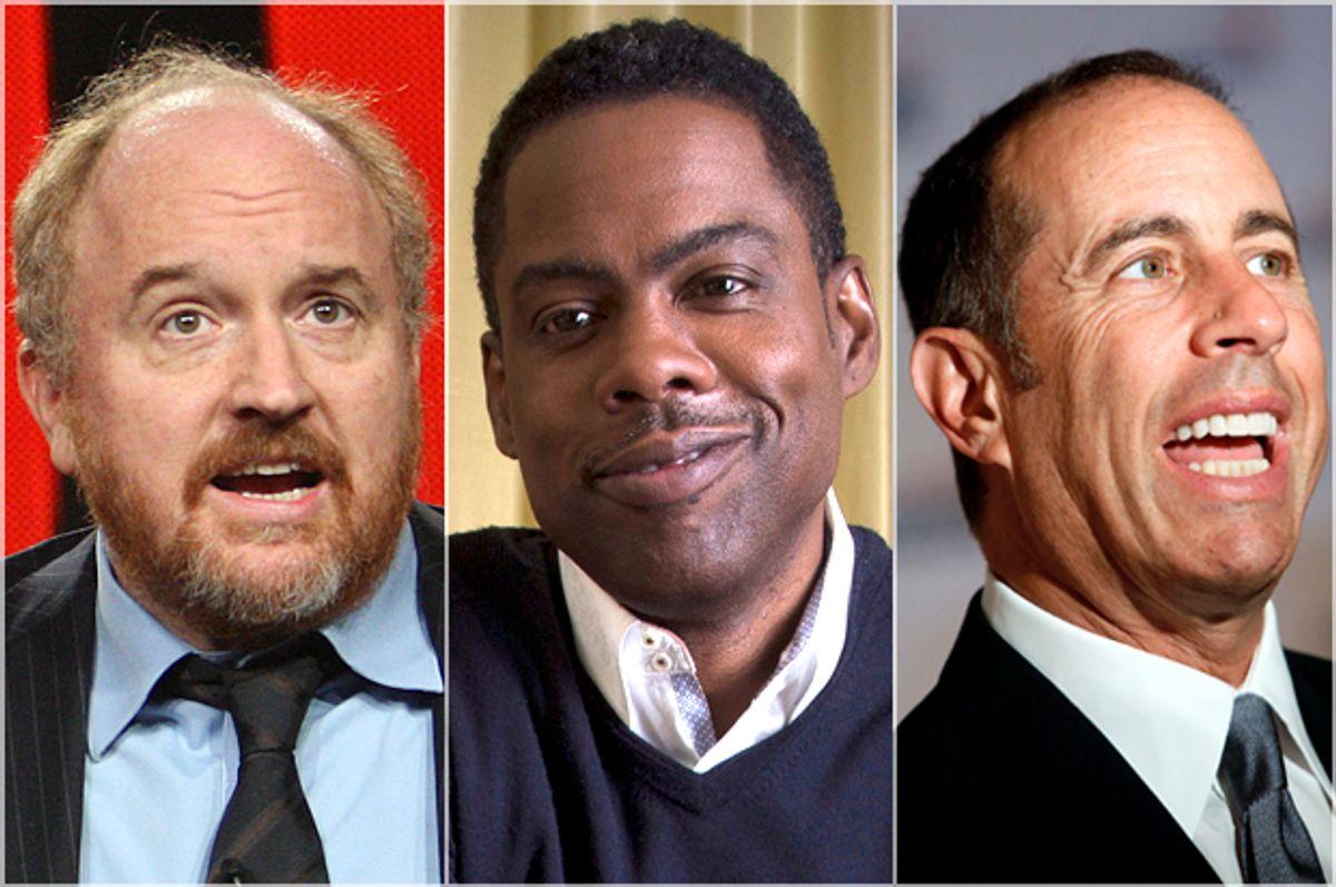 Louis C.K., Chris Rock, Jerry Seinfeld      (Reuters/David McNew/Mike Segar/Jonathan Ernst)