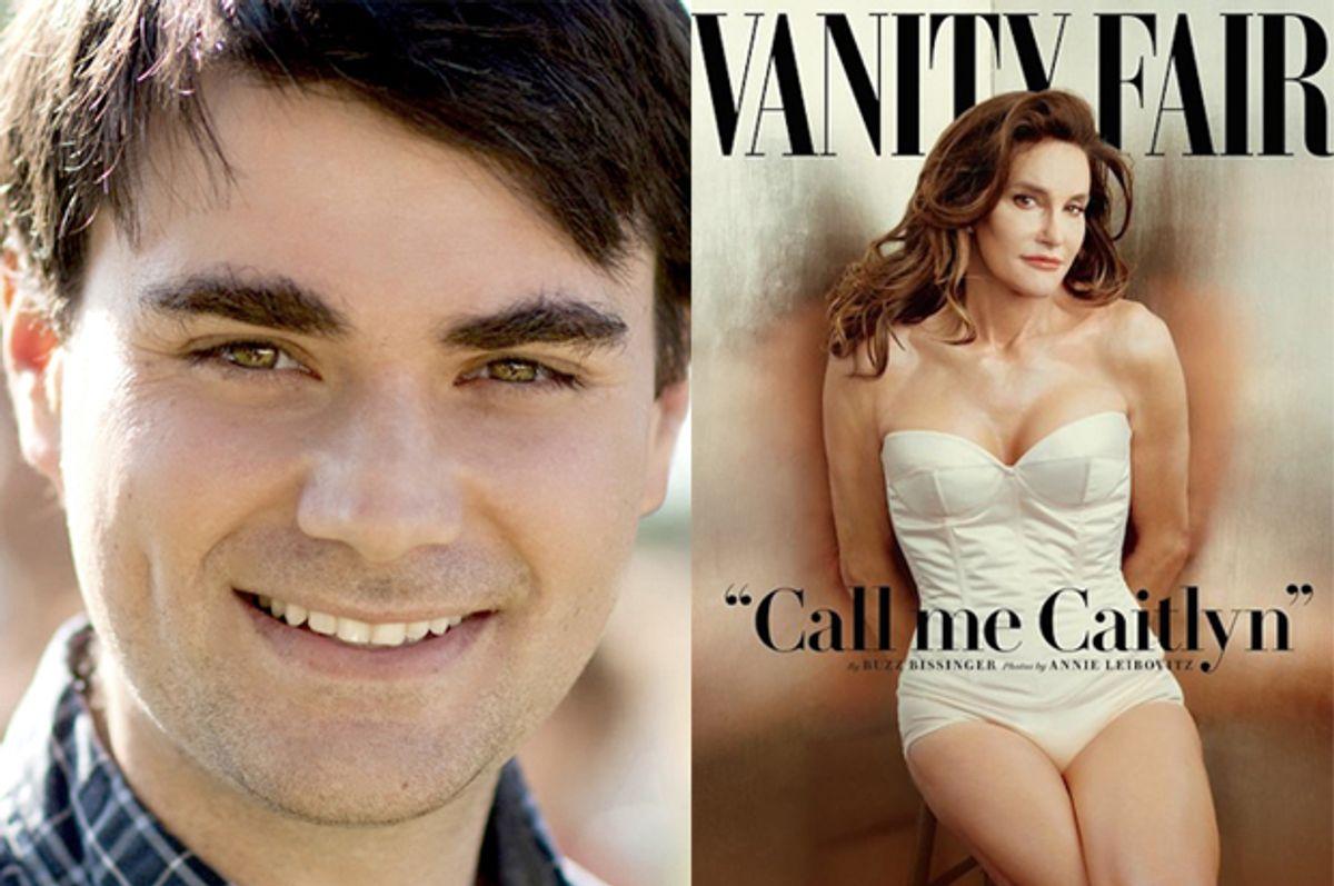 """Ben Shapiro, Caitlyn Jenner on the cover of """"Vanity Fair"""""""