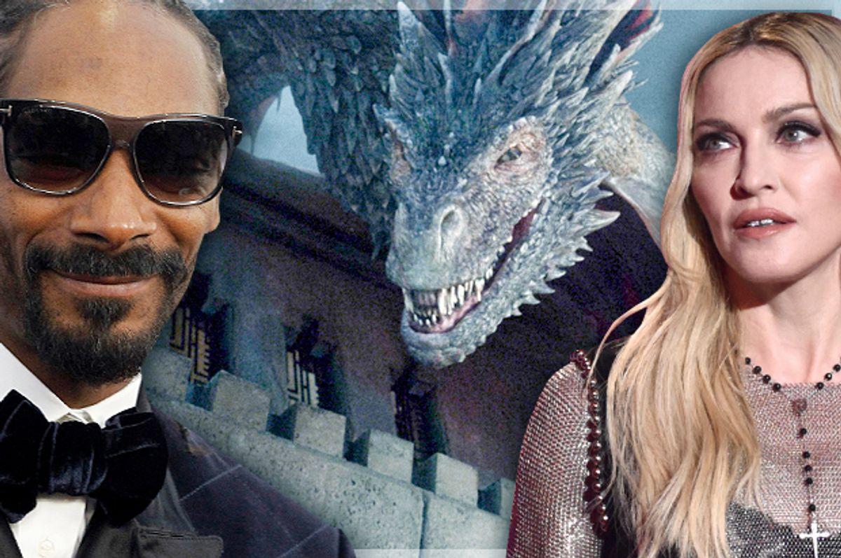 Snoop Dogg, Madonna       (AP/Reuters/Mario Anzuoni/John Shearer/HBO/Photo montage by Salon)