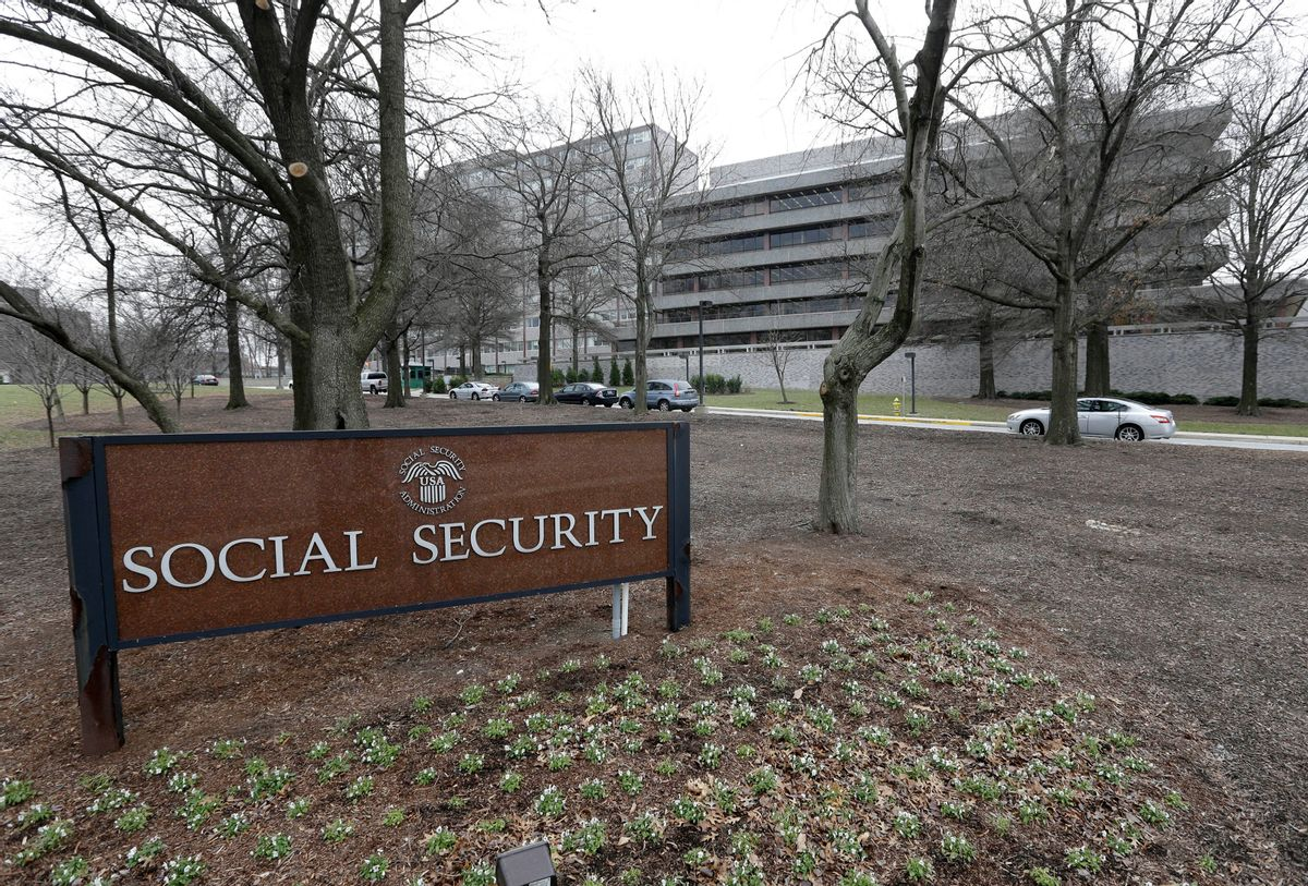 FILE - In this Jan. 11, 2013 file photo, the Social Security Administration's main campus is seen in Woodlawn, Md. (AP Photo/Patrick Semansky, File) (AP)