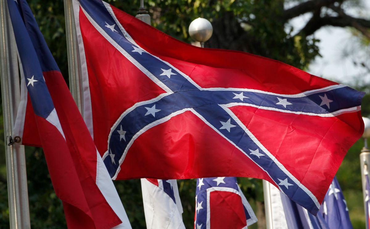 Confederate battle flags   (AP Photo/Dave Martin)