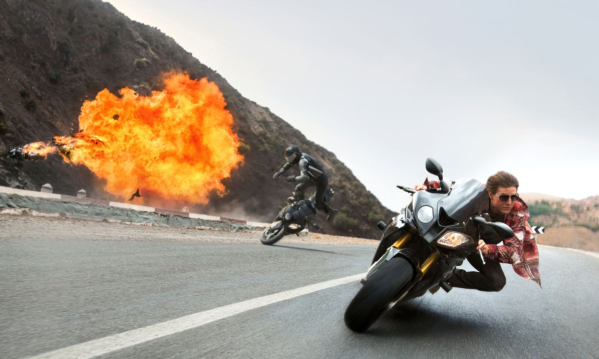 """In this image released by Paramount Pictures, Tom Cruise appears in a scene from """"Mission: Impossible - Rogue Nation.""""  (Bo Bridges/Paramount Pictures and Skydance Productions via AP) (AP)"""