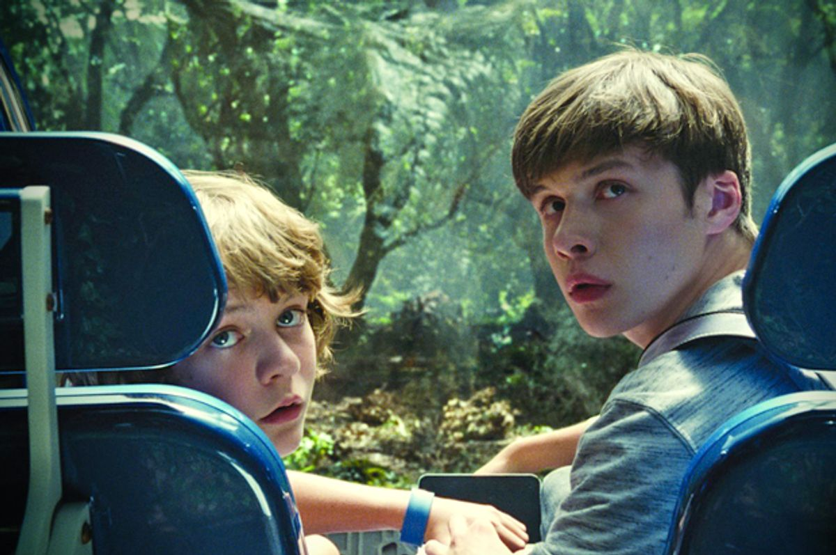 """Ty Simpkins and Nick Robinson in """"Jurassic World""""       (Universal Pictures)"""