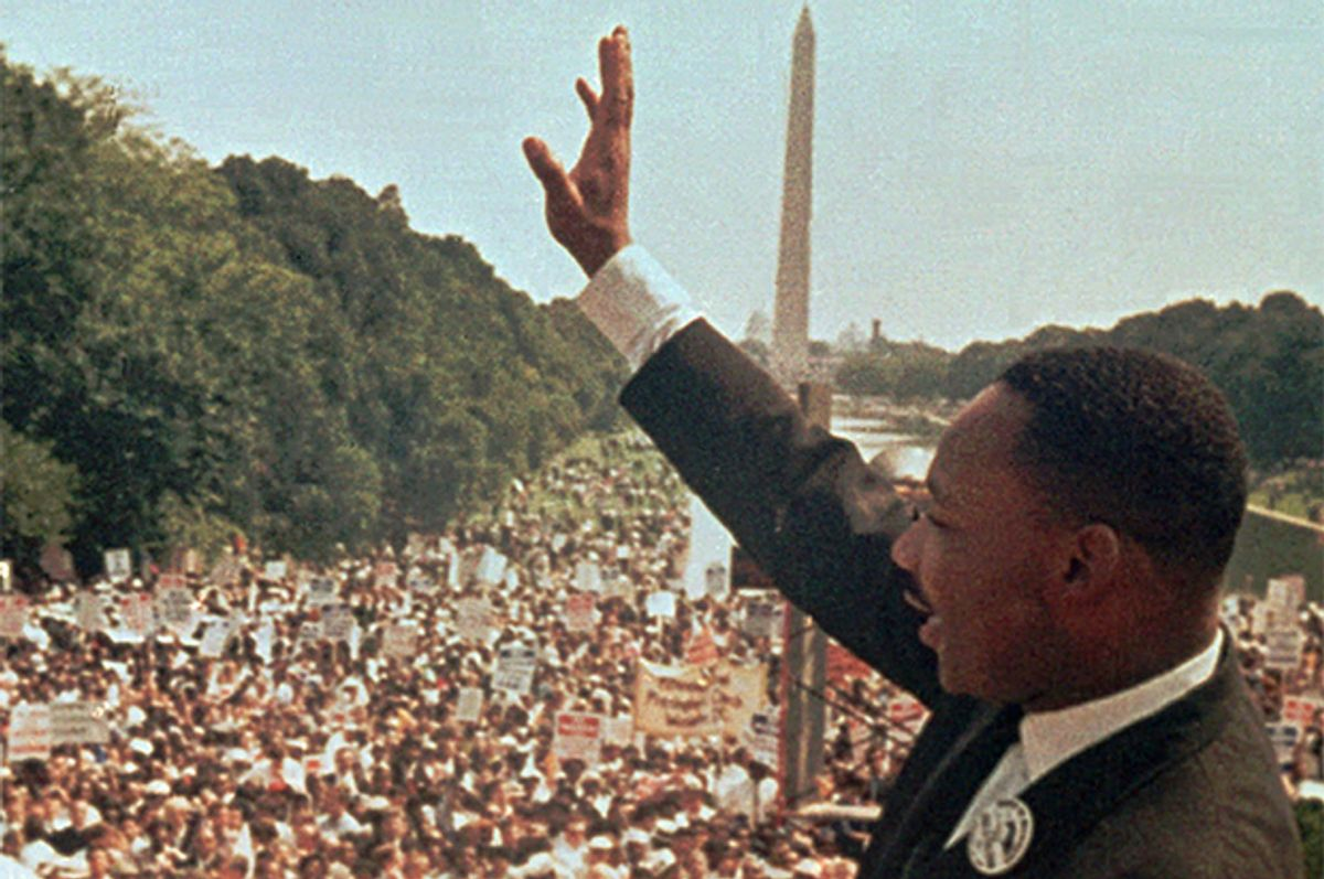Dr. Martin Luther King Jr. at the March on Washington, D.C., Aug. 28, 1963.      (AP)