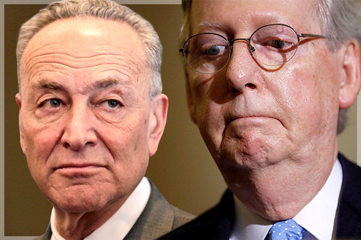 Chuck Schumer, Mitch McConnell     (AP/Seth Wenig/Reuters/Jonathan Ernst/Photo montage by Salon)