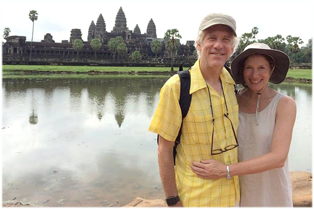 A photo of the author with her husband