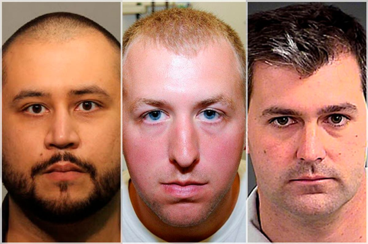 George Zimmerman, Darren Wilson, Michael Slager       (AP/Reuters)