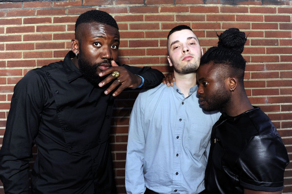 """NO BROADCAST/ONLINE USE BEFORE 1pm. Scottish album of the year awards. Winners Young Fathers. See SWNS story SWNOISE; Newly-crowned Mercury Music Prize winners Young Fathers yesterday (Tues) slammed their home city's stringent noise policy for stifling creativity. The experimental hip-hop trio, who hail from Edinburgh, said artists were finding it tough to prosper in the city. Band member Graham Hastings said: """"They shut down anything if you try to make noise. I've been in studios where these guys come with meters and tell you to get out. (Hemedia)"""