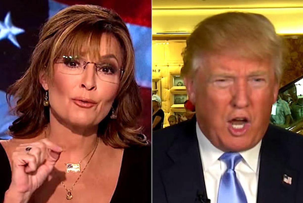 Sarah Palin, Donald Trump (Credit: Fox News)