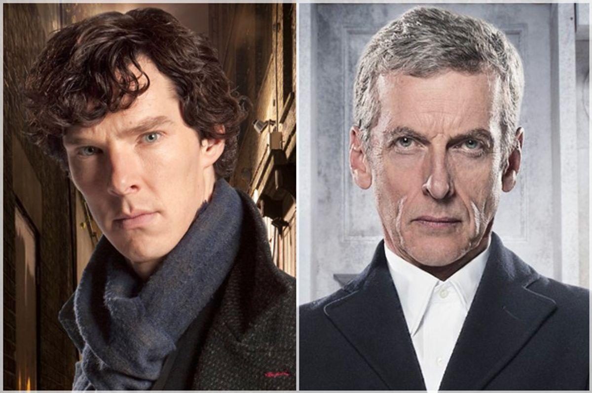 "Benedict Cumberbatch in ""Sherlock"" and Peter Capaldi in ""Doctor Who""   (BBC)"