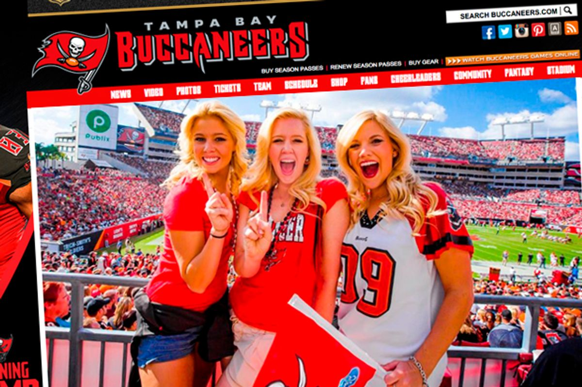 (buccaneers.com/Screen montage by Salon)