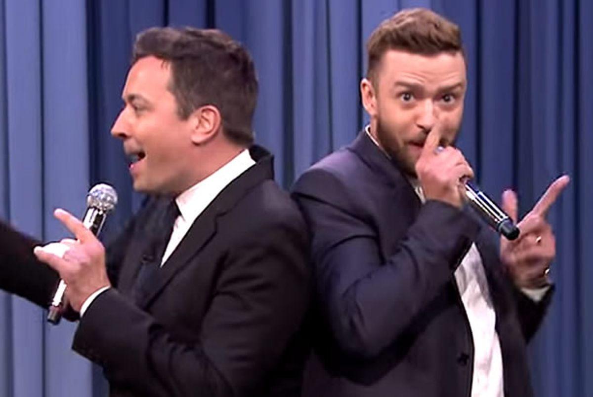 Jimmy Fallon, Justin Timberlake (Credit: NBC)