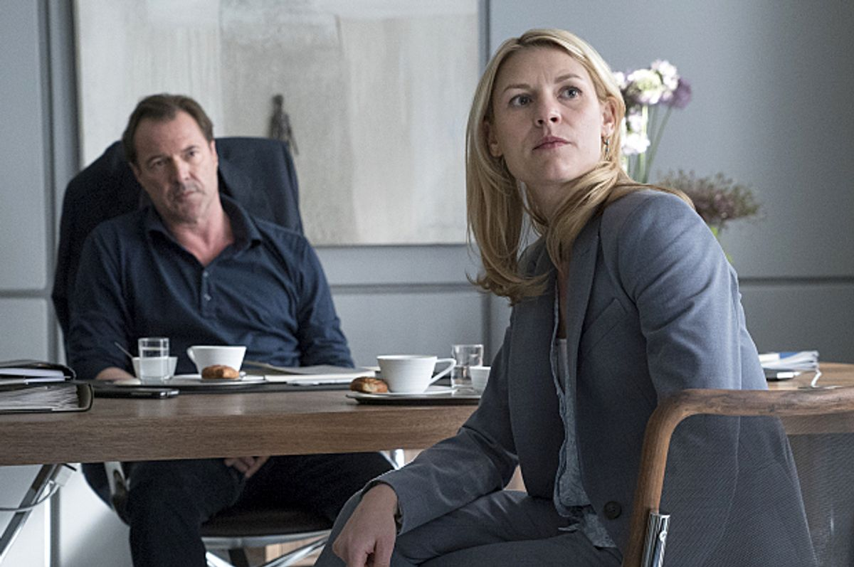 """Sebastian Koch and Claire Danes in """"Homeland""""   (Showtime/Stephan Rabold)"""