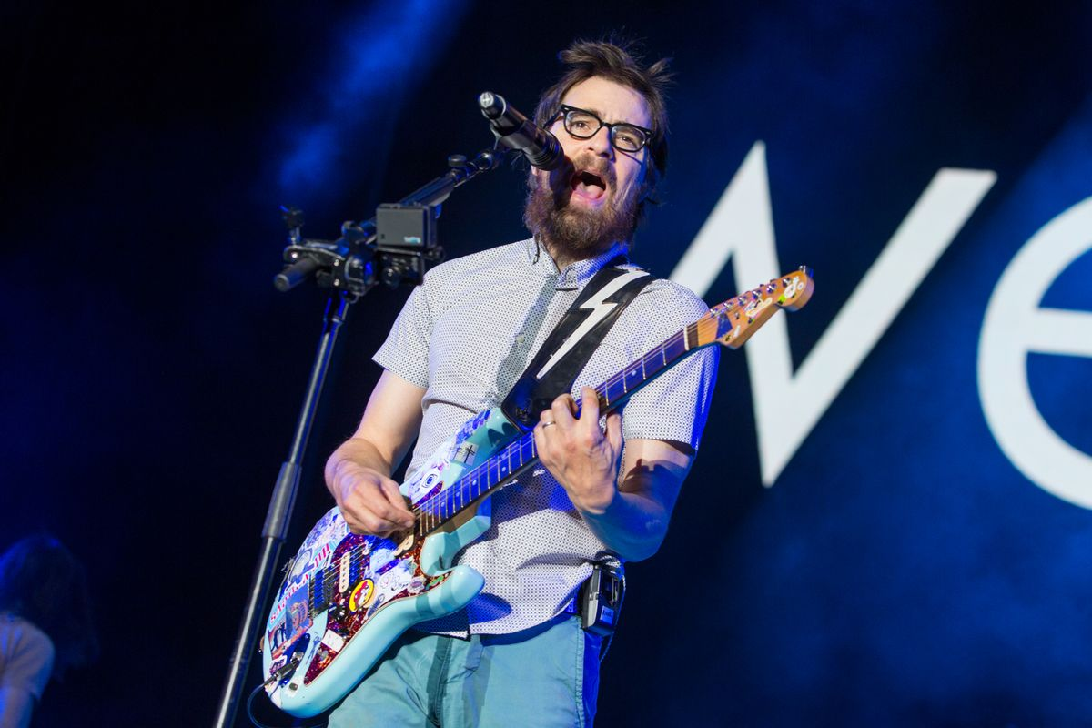 Rivers Cuomo of Weezer performs during the Life is Beautiful festival in Las Vegas.  (Paul A. Hebert/invision/ap)