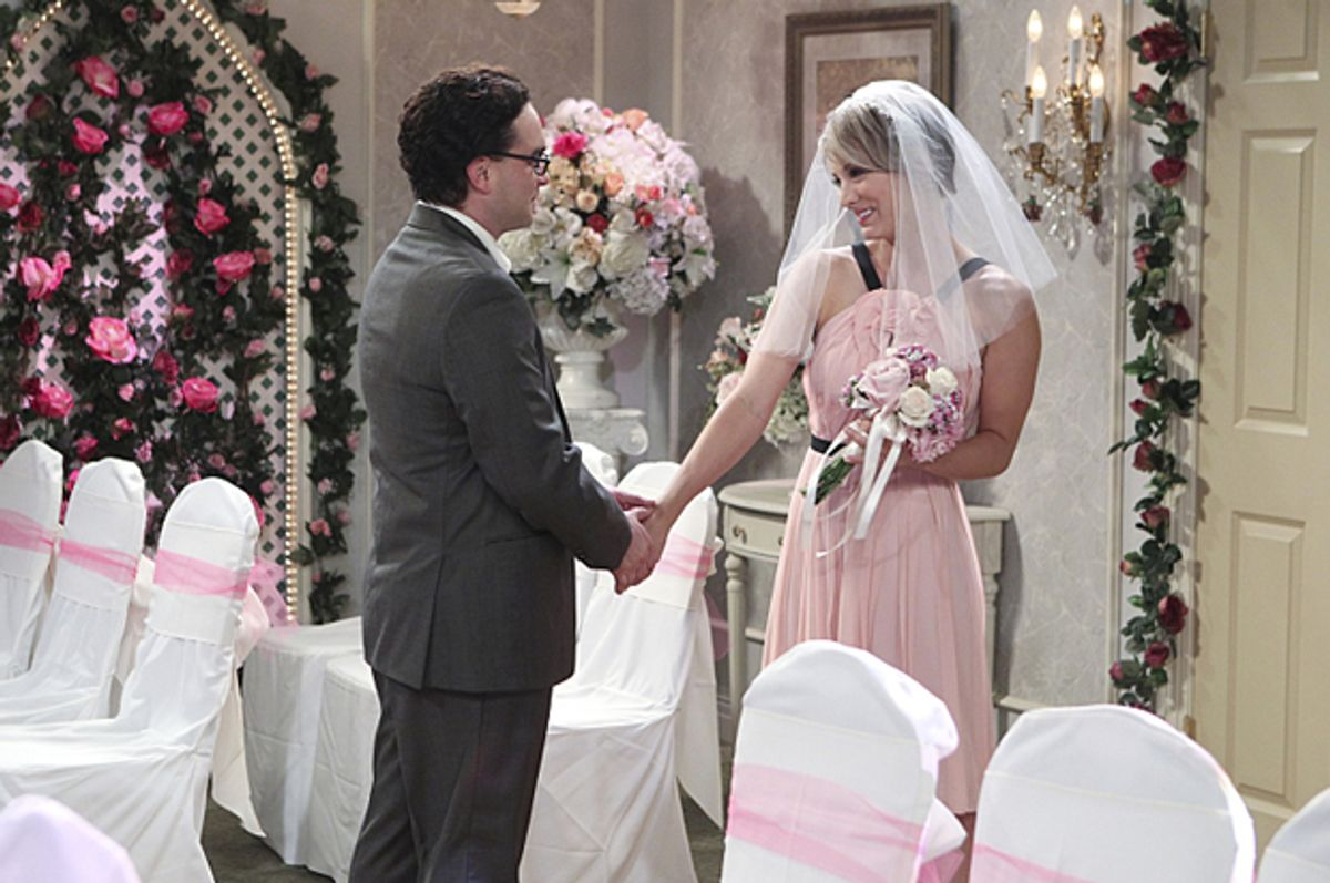 "Johnny Galecki and Kaley Cuoco in ""The Big Bang Theory""   (CBS)"