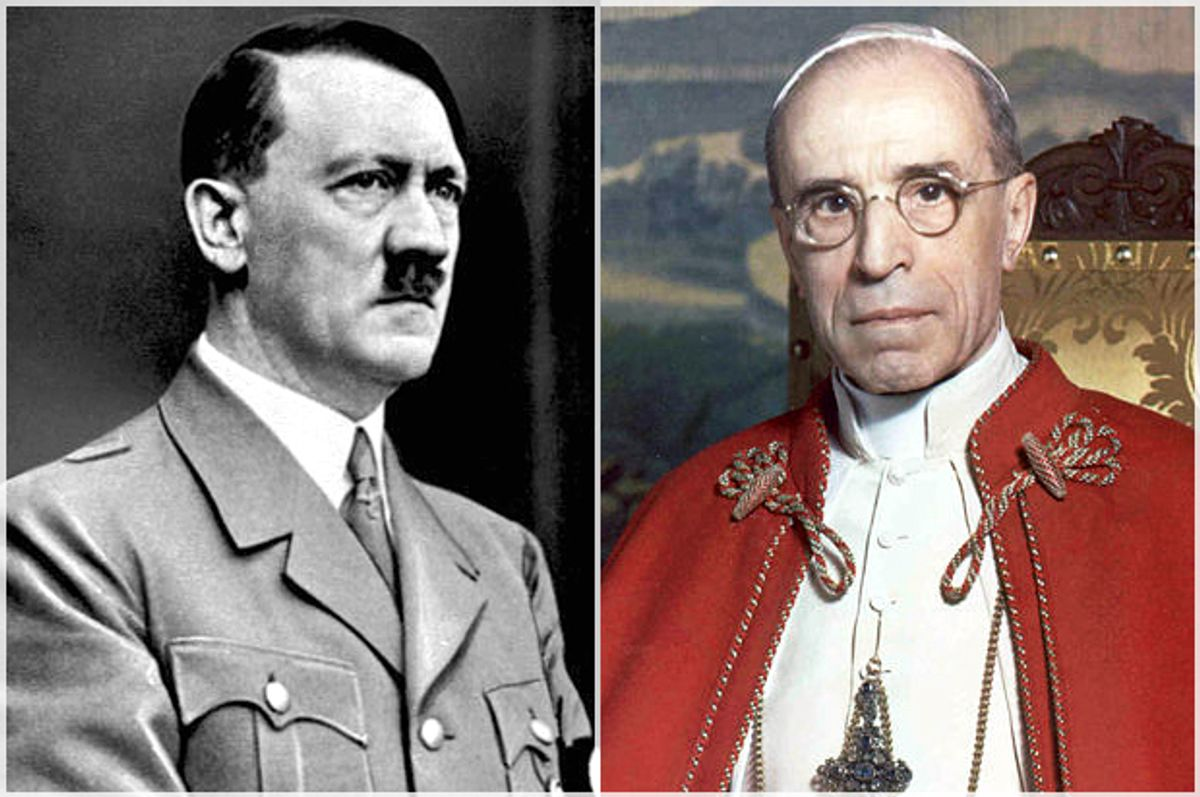 Adolf Hitler, Pope Pius XII   (Wikimedia)