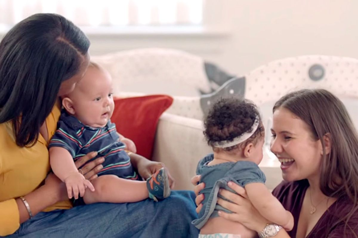 """A still from """"The #EndMommyWars Film – The judgment Stops Here""""   (YouTube/Similac US)"""