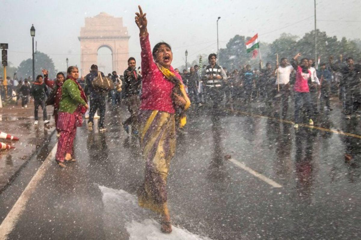 Protesters at India Gate, Delhi in December 2012 (Daniel Berehulak/Getty Images)