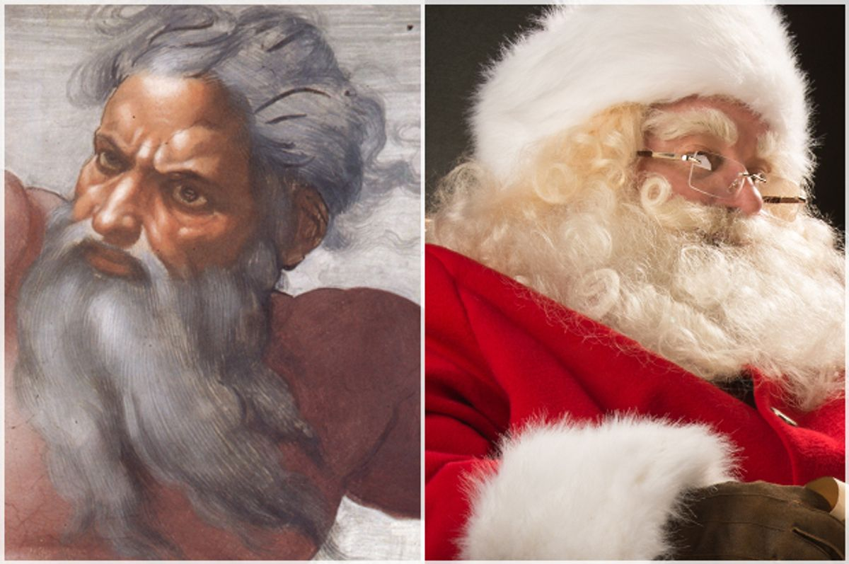 God, Santa Claus   (Wikimedia/<a href='http://www.shutterstock.com/gallery-282061p1.html'>Milles Studio</a> via <a href='http://www.shutterstock.com/'>Shutterstock</a>)
