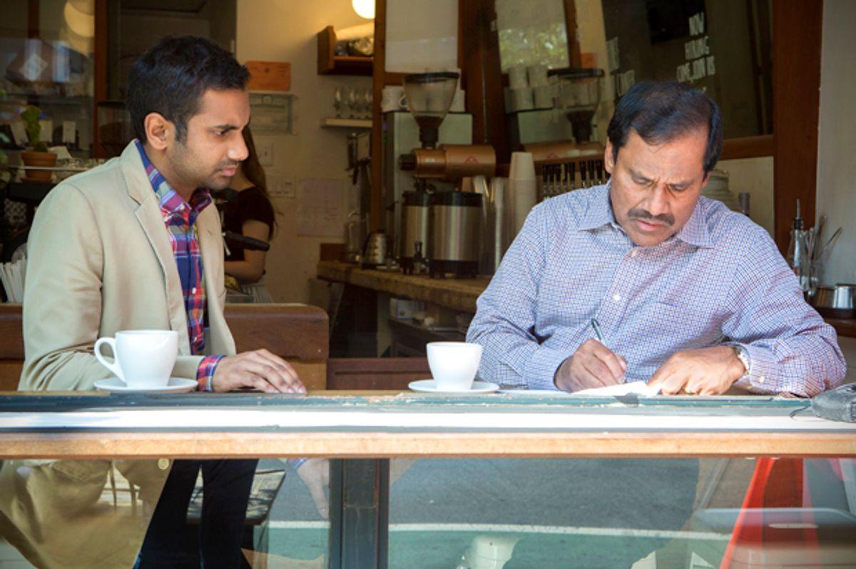 "Aziz Ansari and Shoukath Ansari in ""Master of None""   (Netflix/K.C. Bailey)"