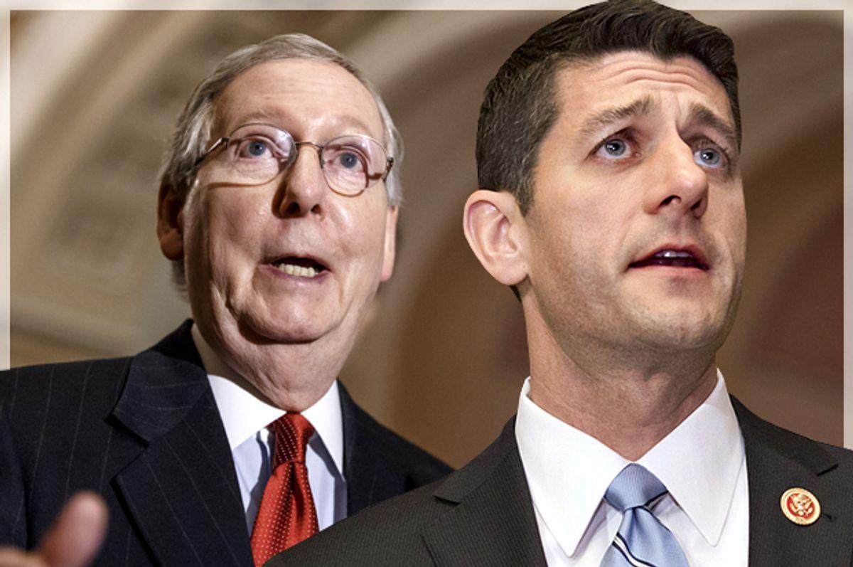 Mitch McConnell, Paul Ryan   (AP/J. Scott Applewhite//Photo montage by Salon)