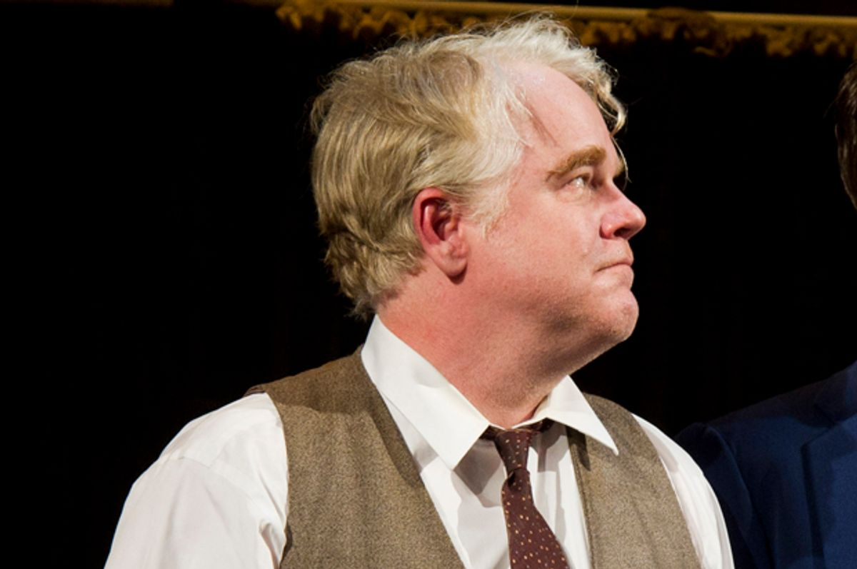 """Philip Seymour Hoffman as Willy Loman in """"Death of a Salesman""""    (AP/Charles Sykes)"""