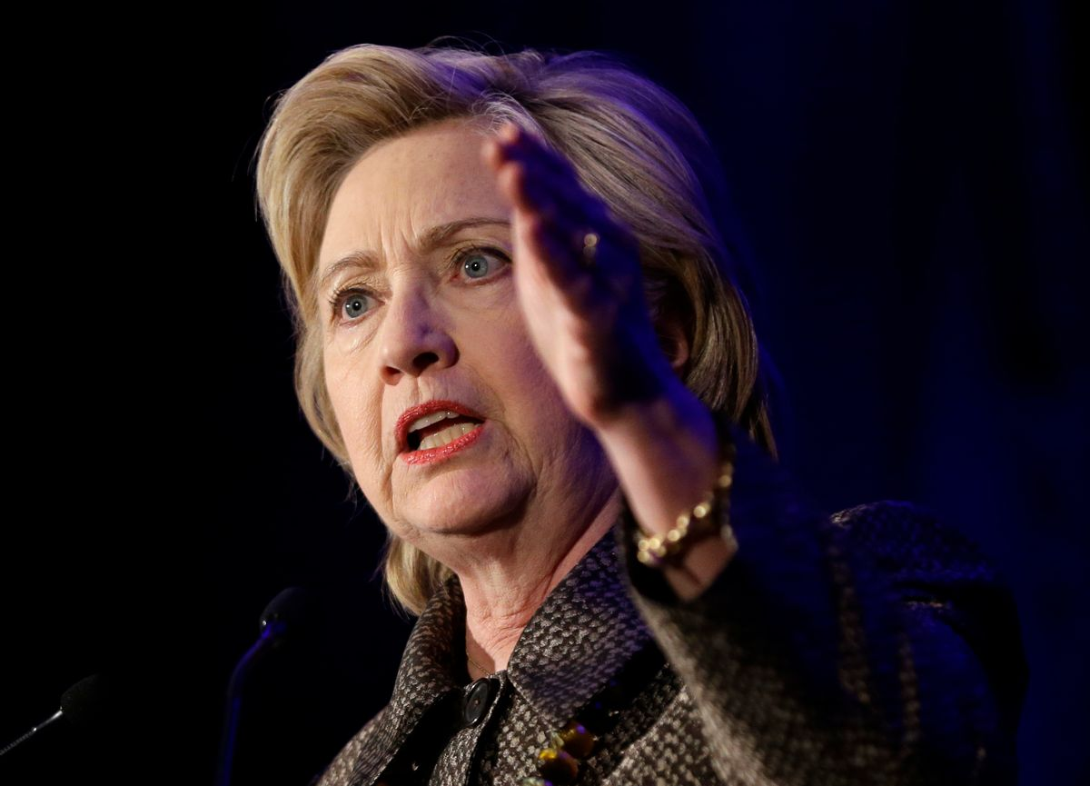 Democratic presidential candidate Hillary Clinton  (AP/Seth Wenig)