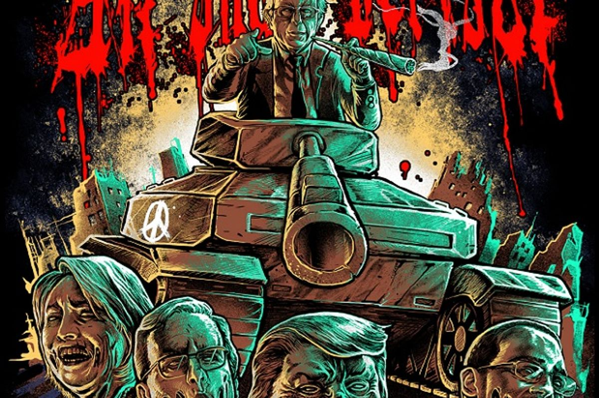 The pro-Bernie Sanders t-shirt released by metal band All Shall Perish  (Coki Greenway/All Shall Perish)