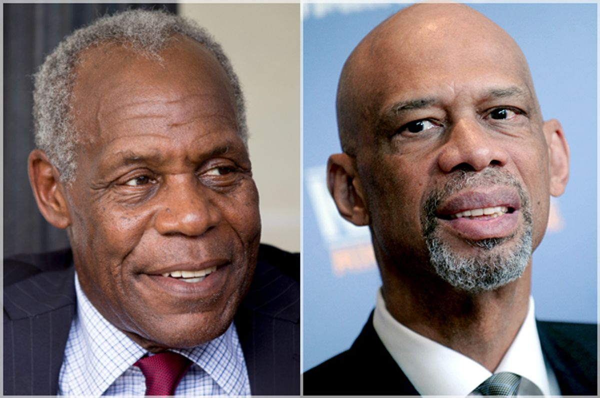 Danny Glover, Kareem Abdul-Jabbar   (Reuters/Andrew Harnik/AP/Dennis Van Tine)