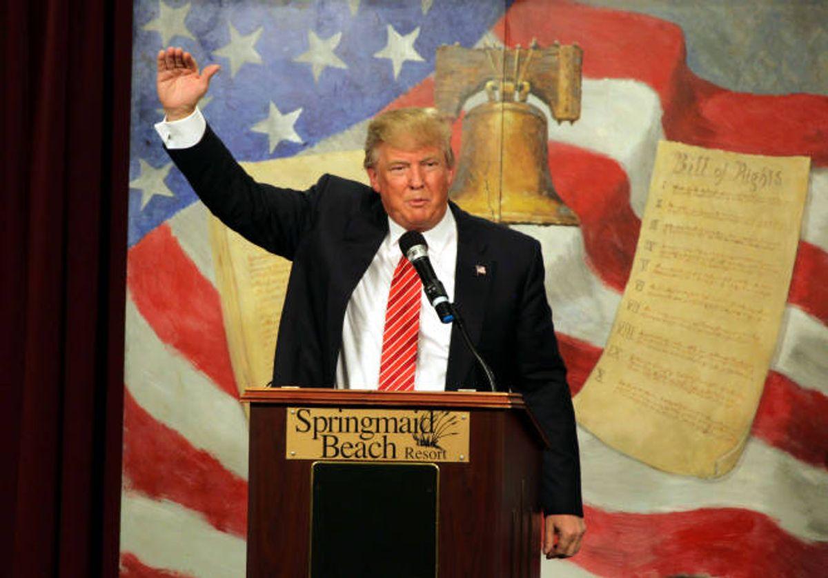 Republican presidential candidate Donald Trump  (AP Photo/Willis Glassgow)