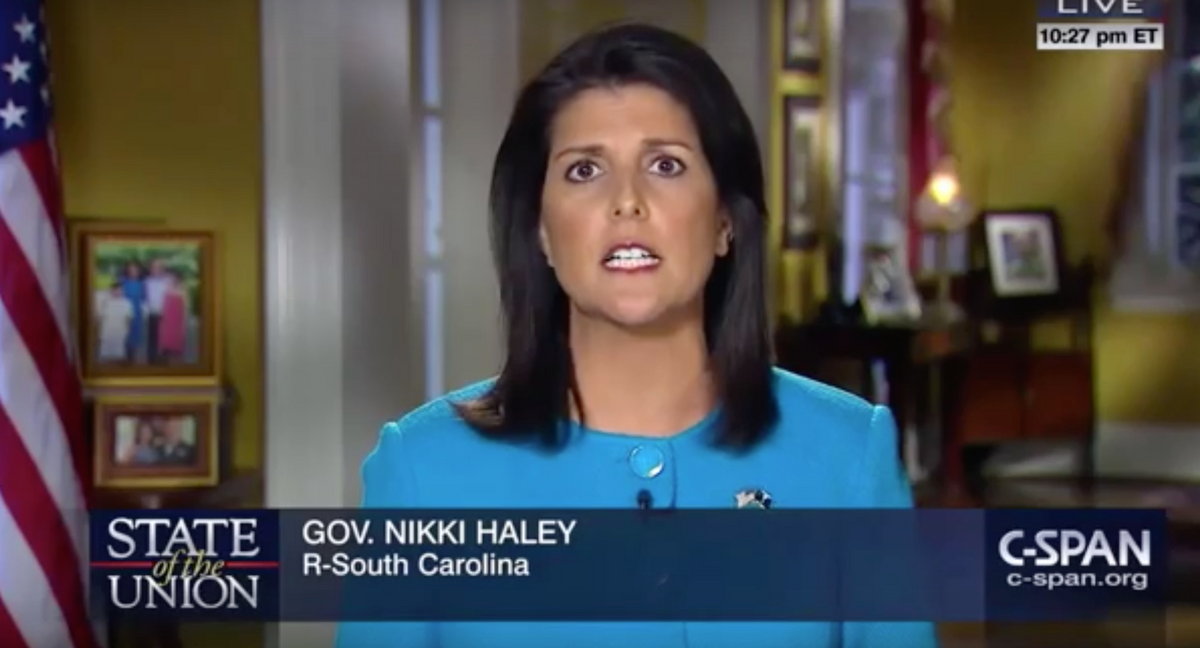 Gov. Nikki Haley of South Carolina gives the response to the State of the Union.